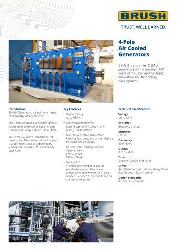 4-Pole Air Cooled Generators