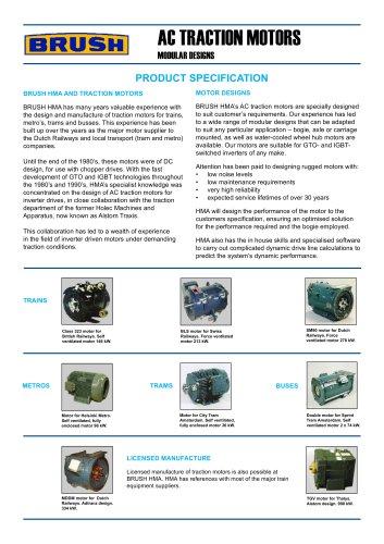 AC TRACTION MOTORS MODULAR DESIGNS