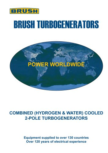 COMBINED (HYDROGEN & WATER) COOLED 2-POLE TURBOGENERATORS
