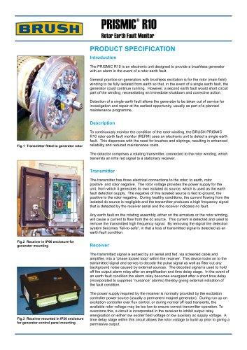 PRISMIC ®  R10 Rotor Earth Fault Monitor