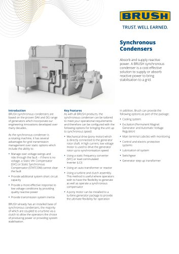 Synchronous Condensers
