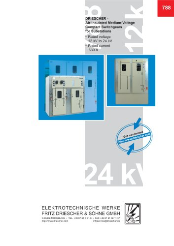 Air-Insulated Medium-Voltage Compact Switchgears for Substations