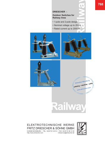 DRIESCHER-Outdoor Switches for Railway lines