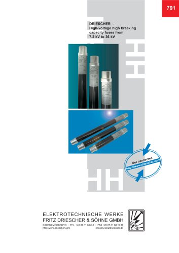High-voltage high-breaking-capacity fuse links