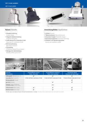 IP67 D-SUB Hoods Overview
