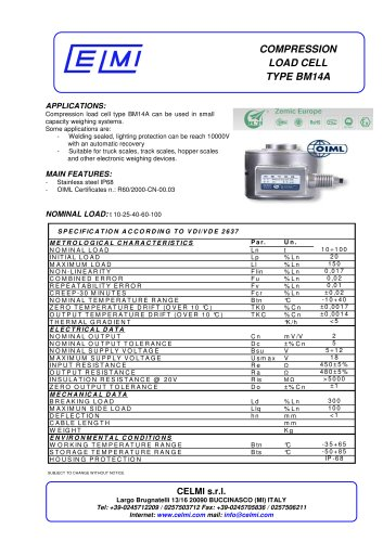 COMPRESSION LOAD CELL TYPE BM14A