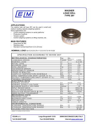 WASHER LOAD CELL TYPE 281