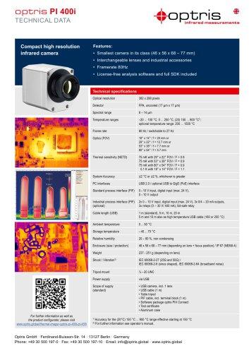 Infrarotkamera optris PI 400i