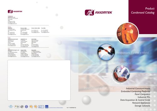 2005 AXIOMTEK Product Condensed Catalogue