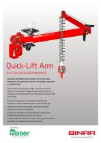 Quick-Lift Arm 50i overhead mounted