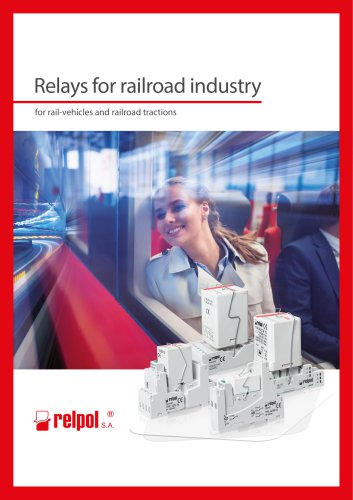 Relays for railroad industry