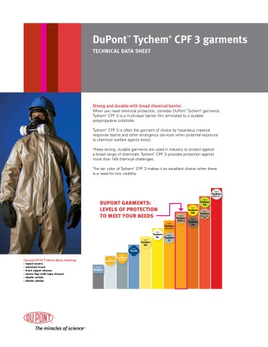 Tychem® CPF 3 Technical Data Sheet