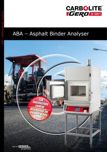 ABA – Asphalt Binder Analyser