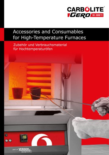Accessories and Consumables for High-Temperature Furnaces