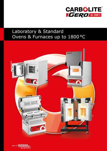 Laboratory & Standard Ovens & Furances up to 1800°C