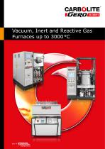 Vacuum, Inert and Reactive Gas Furnaces up to 3000 °C