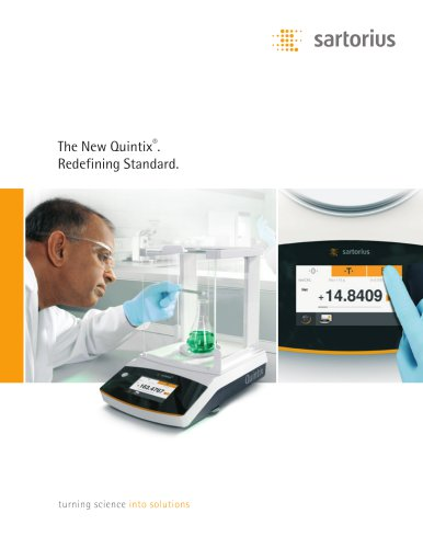 Sartorius - The New Quintix