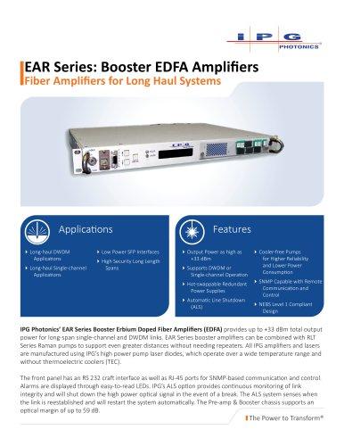 Booster EDFA Amplifiers
