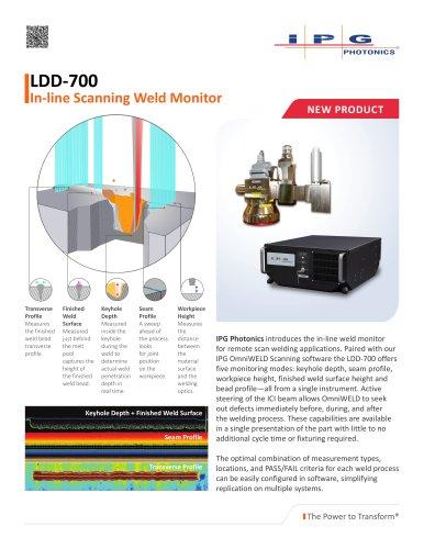 LDD-700 Inline Weld Monitor Datasheet