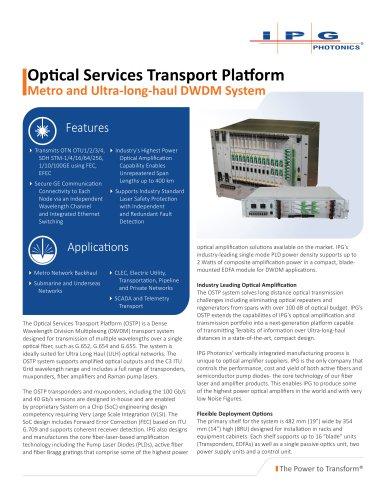 Metro and ULH DWDM System