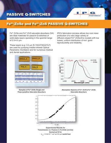 Passive Q-switch Fe_ZnS and Fe_ZnSe