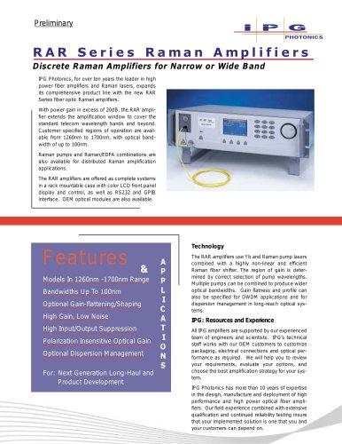 RAR Series Raman Amplifiers