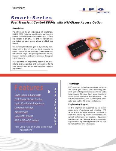 Smart-Series DWDM Fiber Amplifiers