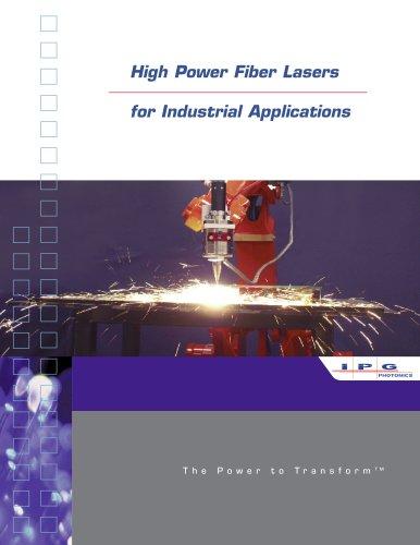 YLR-HP Series: 1-50kW Ytterbium Fiber Lasers