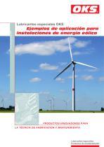 Ejemplos de aplicación para instalaciones de energía eólica: OKS 400, OKS 495, OKS 510, OKS 2650