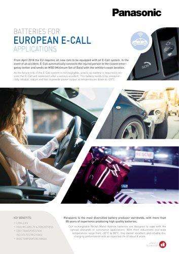 Ni-MH batteries leaflet - E-call