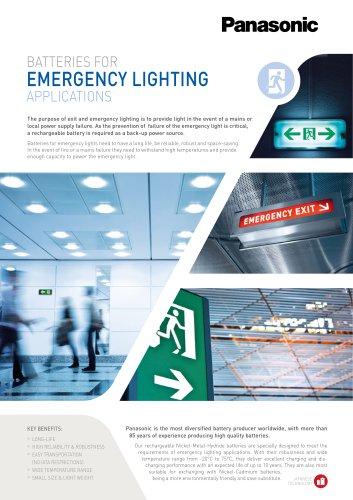 Panasonic Ni-MH batteries leaflet - Emergency lighting EN Ni-MH batteries leaflet - Emergency lighting
