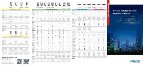 Korenix Reliable Industrial Ethernet Solutions
