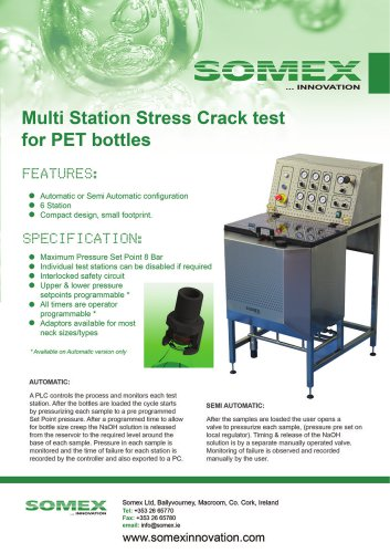 Multi Station Stress Crack test for PET bottles