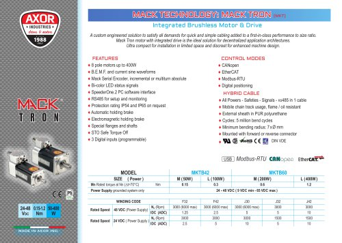 MACK TRON Integrated Servomotor