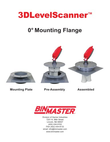 3D 0 Degree Mounting Flange