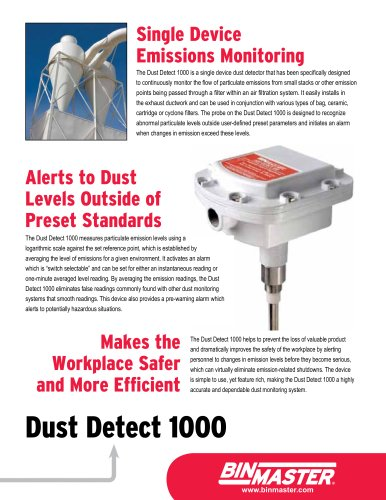 BinMaster Dust Detect 1000 Brochure