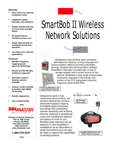 BinMaster SmartBob Wireless Transceiver Brochure