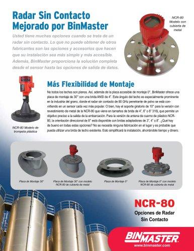 NCR-80 Opciones de Radar Sin Contacto