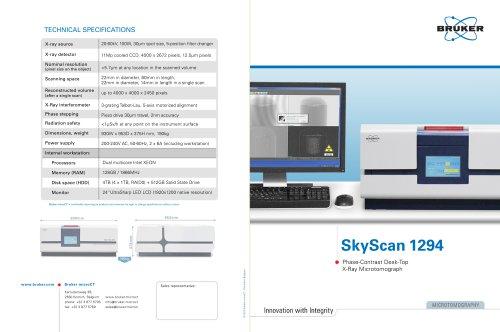 SkyScan 1294 - Phase-Contrast Desktop X-Ray Microtomograph