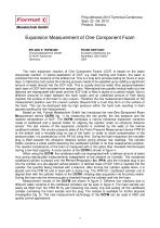 Expansion Measurement of One Component Foam  - 2013