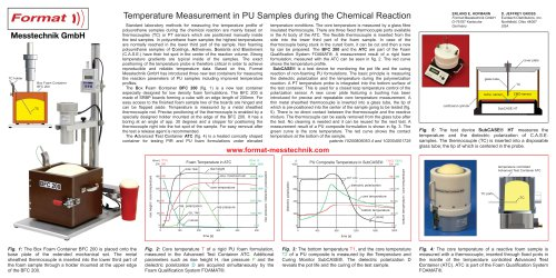 Temperature Measurement in PU Samples during the Chemical Reaction