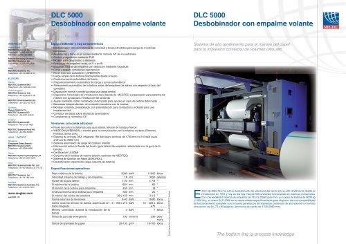 """Desbobinador de 60"""" DLC 5000"""