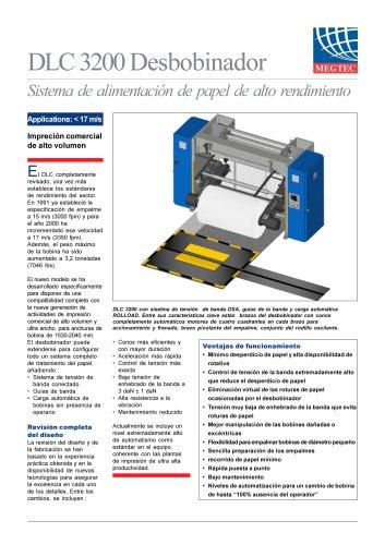 DLC 3200 Desbobinador - Sistema de alimentación de papel de alto rendimiento