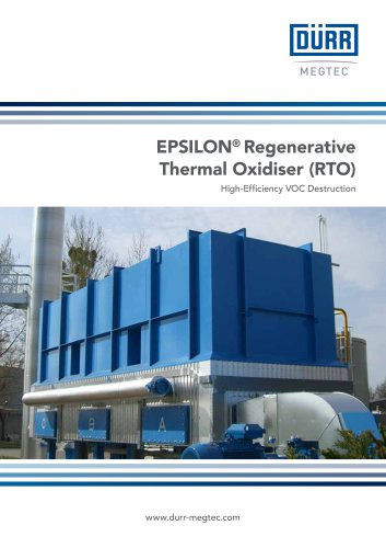 EPSILON® Regenerative Thermal Oxidiser (RTO)