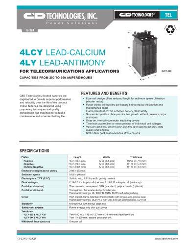 4LCY LEAD-CALCIUM 4LY LEAD-ANTIMONY
