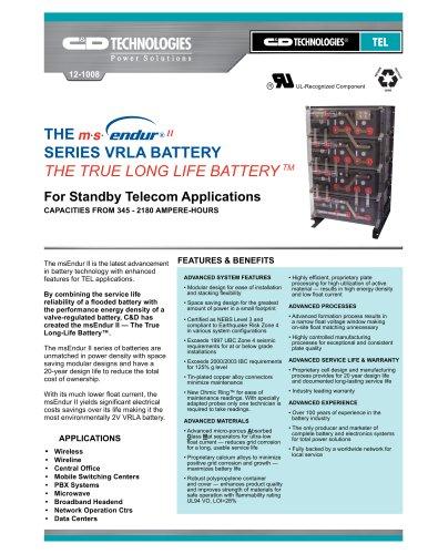 msEndur II  The True Long-Life Battery™