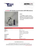 AV 2040 UHF Satellite Communication (SATCOM) Antenna