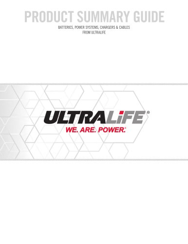 Ultralife Battery & Energy Product Catalogue