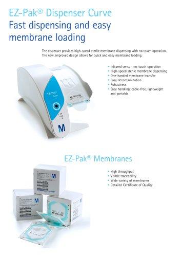 EZ-Pak® Dispenser Curve Fast dispensing and easy membrane loading