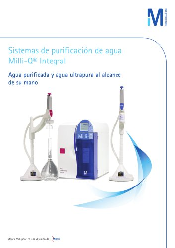 Sistema de purificación de agua Milli-Q® Integral